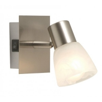 Lampa citit Globo Parry 54530-1 nichel mat, sticla alabastru