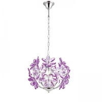 Pendul sufragerie Globo Purple 5143 crom, acril mov