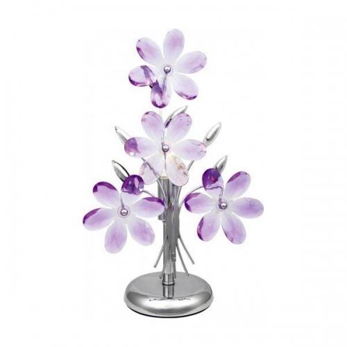Veioza birou Globo Purple 5146 crom, acril mov