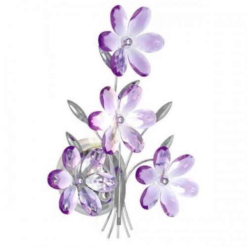 Aplica moderna Globo Purple 5147 crom, acril mov
