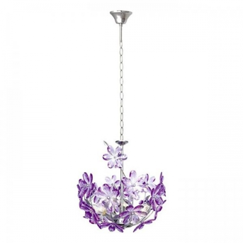 Lustra sufragerie Globo Purple 5141 crom, acril mov