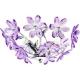 Plafoniera living Globo Purple 5142 crom, acril mov