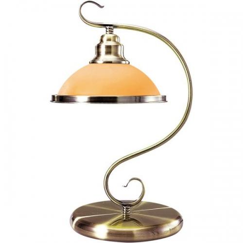 Veioza birou Globo Sassari 6905-1T alama antica, sticla ambra