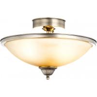 Plafoniera hol Globo Sassari 6905-2D alama antica, sticla ambra