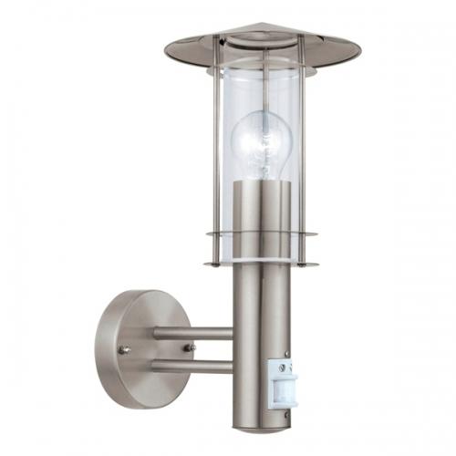 Aplica cu senzor Eglo Lisio 30185 60W E27, inox, IP44
