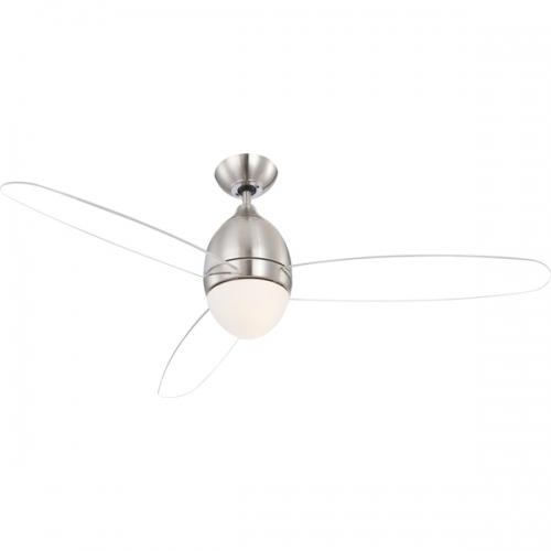 Lustra Ventilator cu telecomanda 132cm Premier 0302 Globo Transparent