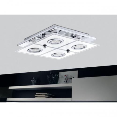 Plafoniera Eglo Cabo 30931, 4x2,5W LED, Crom