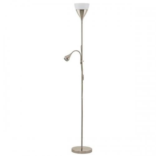 Lampadar Eglo Spello 2 93211, 1x7W+1x3W LED, Nichel