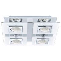 Plafoniera Eglo Cabo 92876, 4x2,5W LED, Crom