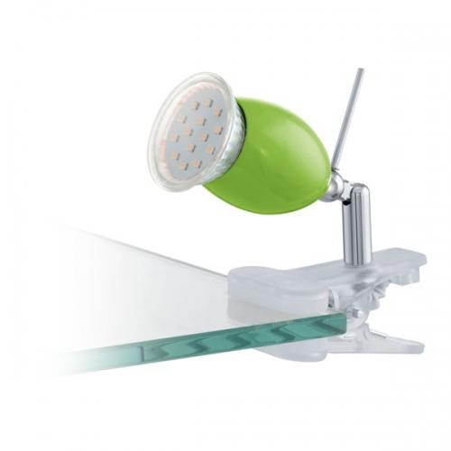 Lampa de birou Eglo Brivi 92909, 1x2,5W LED, Transparent