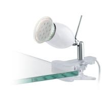 Lampa de citit LED cu clips Eglo Banny 1 93118, 1x3W LED, Alb