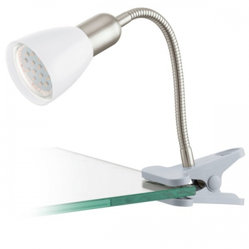 Lampa de birou clips Eglo Dakar 3 92932, 1x3W LED, Argintiu