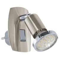 Aplica de priza Eglo Mini 4 92924, 1x2,5W LED, Nichel