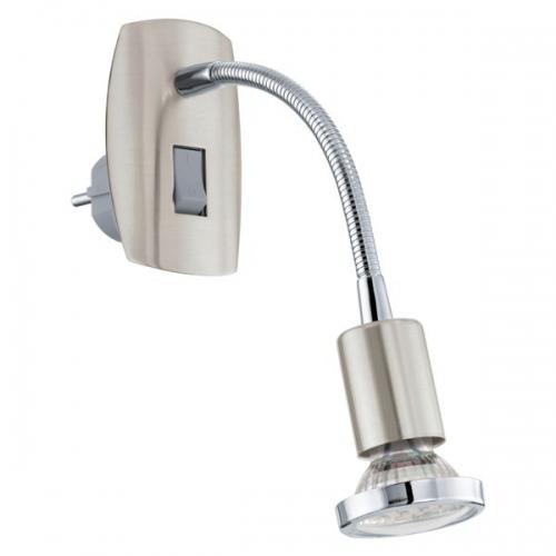 Aplica de priza Eglo Mini 4 92933, 1x2,5W LED, Nichel
