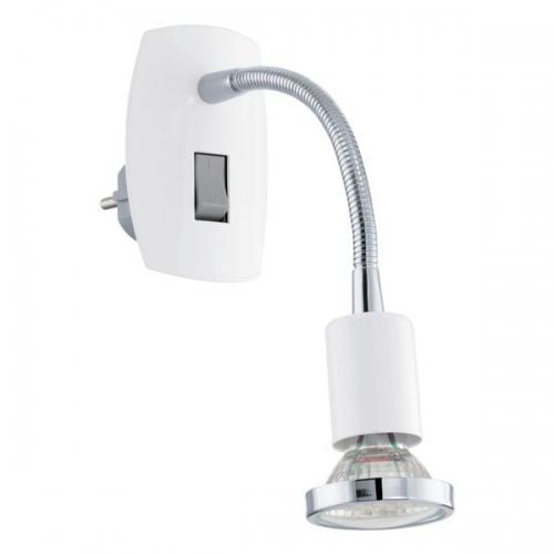 Aplica de priza Eglo Mini 4 92934, 1x2,5W LED, Alb
