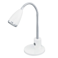 Lampa de birou Eglo Fox 92872, 1x2,5W LED, Alb
