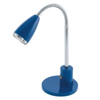 Lampa de birou Eglo Fox 92875, 1x2,5W LED, Albastru