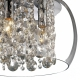Lustra cristal living si bucatarie Brillant 2820, 3xE14, crom-transparent