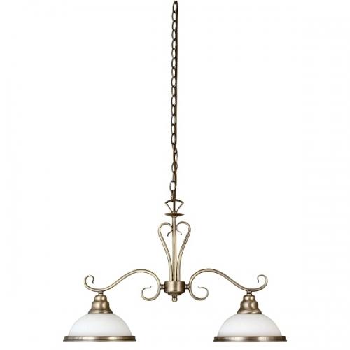 Lustra clasica de bucatarie Elisett 2757, 2xE27, bronz