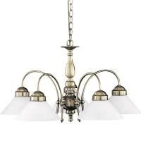Lustra living clasica Rabalux Marian 2705, 5x60W, E27, bronz