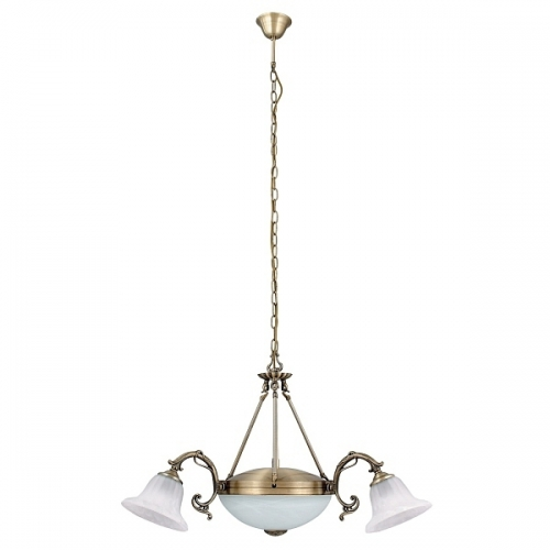 Lustra clasica Rabalux Orchidea 8553, 240W, bronz
