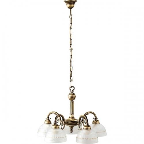 Lustra living clasica Rabalux Flossi 8815, 5x40W, bronz