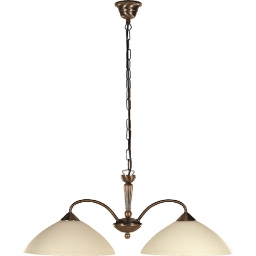 Lustra clasica bucatarie Rabalux Regina 8177, 2x60W, bronz