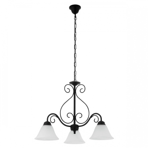 Lustra clasica dormitor Rabalux Athen 7813, 3x40W-E14, negru,