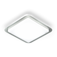 Plafoniera RS LED D2 Nichel cu senzor miscare 360°, 800 lm, 10W-LED, IP44
