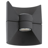 Aplica Eglo Redondo 93368, 2x2.5W LED, Antracit