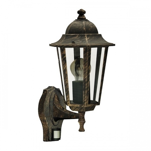 Lampa cu senzor Rabalux Velence 8218, 60W-E27, aurie, 8m