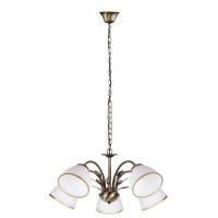 Lustra sufragerie Rabalux Aletta 2780, 5xE14, bronz-alb
