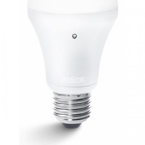Bec cu senzor E27-LED-A60, 8.5W, alb cald