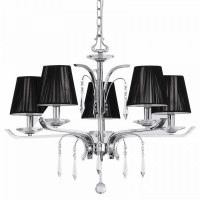 Lustra cristal living ACCADEMY SP5 20600, crom-negru, 5xE14