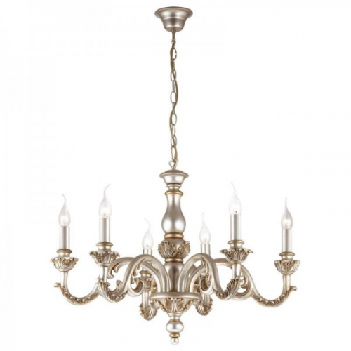 Lustra clasica sufragerie Ideal Lux GIGLIO SP6 ARGENTO 75310