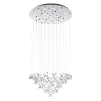 Candelabru cristal Saraceno 31491 Eglo, 18x2,4W LED, crom