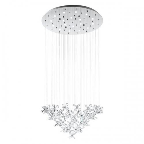 Lustra cristal Saraceno 31491 Eglo, 18x2,4W LED, crom