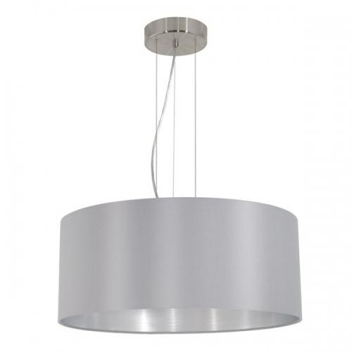 Lustra sufragerie Maserlo 31606 Eglo, 3x60W E27, gri-argintiu