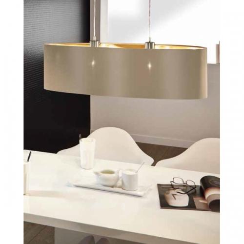 Suspensie Maserlo 31618 Eglo, 2x60W E27, taupe-auriu