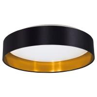 Plafoniera hotel Maserlo 31622 Eglo, 18W LED, negru-auriu