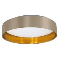 Plafoniera hotel Maserlo 31624 Eglo, 18W LED, taupe-auriu
