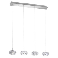 Suspensie cristal Corliano 39007 Eglo, 4x5W LED, crom