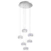 Candelabru cristal Corliano 39008 Eglo, 6x5W LED, crom