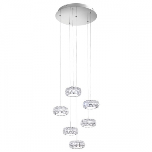 Lustra cristal Corliano 39008 Eglo, 6x5W LED, crom