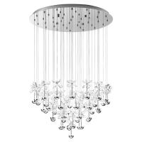 Suspensie cristal Pianopoli 93661 Eglo, 43x2,5W LED, crom