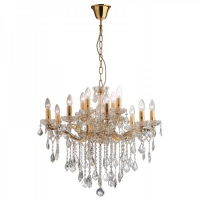 Candelabru clasic cristal living Ideal Lux, FLORIAN SP12 ORO 35611, 12xE14
