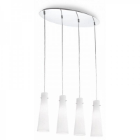 Suspensie Ideal Lux, KUKY BIANCO SP4 53455