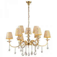Candelabru Ideal Lux, PANTHEON SP9 ORO 88105
