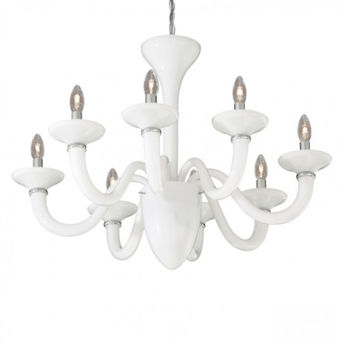 Candelabru Ideal Lux, WHITE LADY SP8 BIANCO 19390