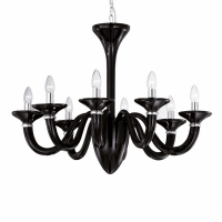 Candelabru Ideal Lux, WHITE LADY SP8 NERO 20518